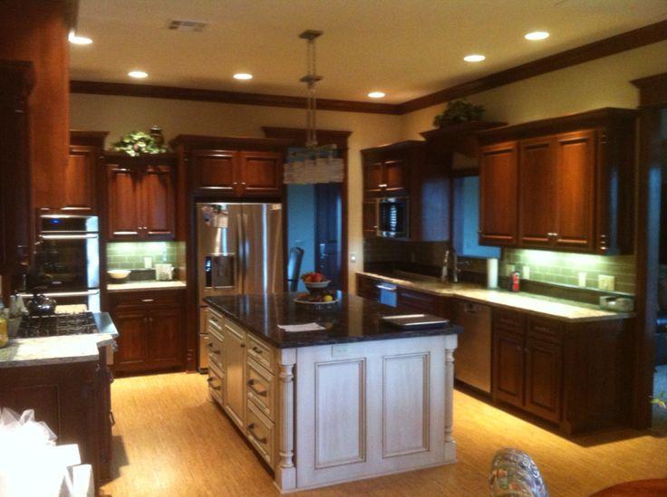 Poplar cabinets with quartz countertops!
