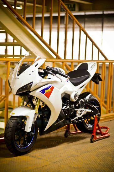 Honda Grom made to look like a super bike