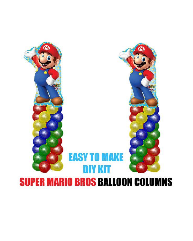 partyexpressinvitations - Super Mario Brothers Birthday Balloons Columns KIT, $30.00 (http://www.partyexpressinvitations.com/super-mario-brothers-birthday-balloons-columns-kit/)