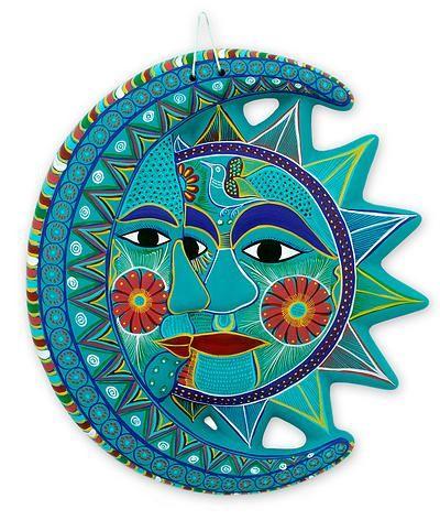 Hand Made Солнце и Луна Керамические Птицы Wall Art - Колибри Затмение | Новица