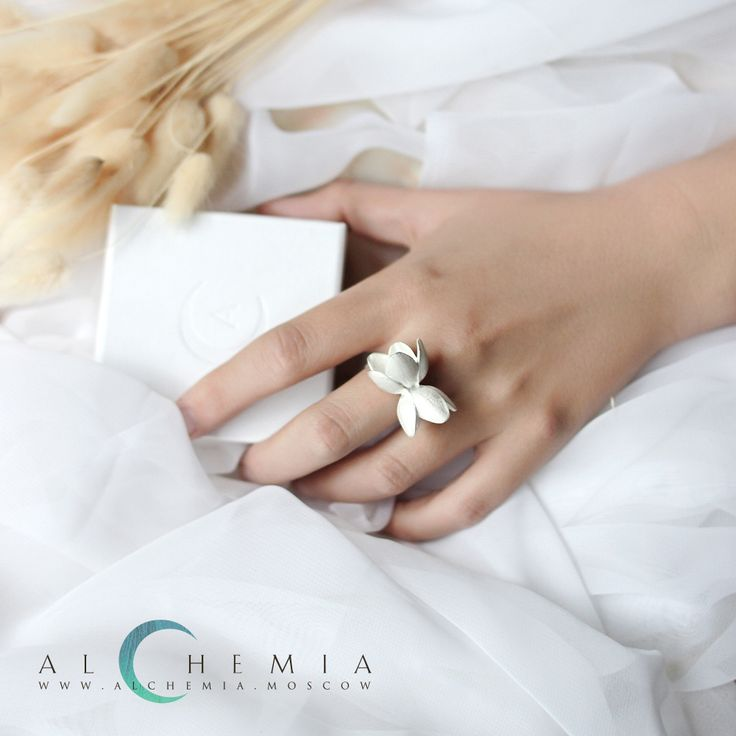 The Sakura ring. Silver. Handmade by Alchemia Jewellery