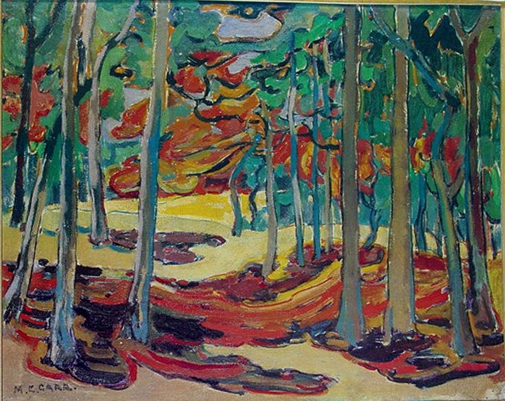 Emily Carr 19x24 Print Autumn Woods 1911 Canadian Woman Painter Wilderness O P | eBay