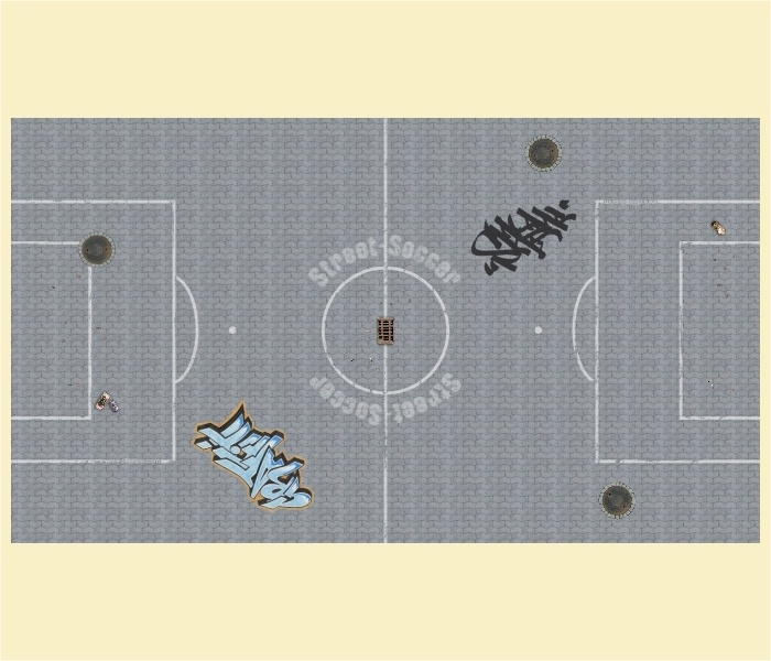 """Kickertisch Zubehör / Kicker Zubehör / Tischfußball Zubehör - Spielfeldfolie Motiv """"Streetsoccer"""""""