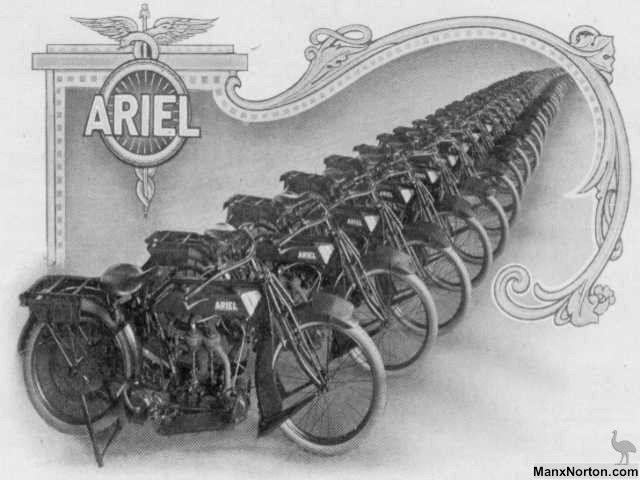 Ariel 1916 Motorcycle Catalogue