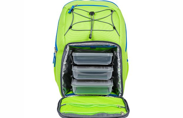 Want to keep your lunch fresh AND bring your gym clothes? The Six Pack Bags Pursuit Backpack can store five different meals with space for water, clothes and a laptop.