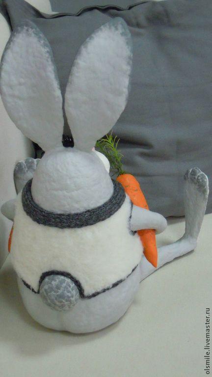 Купить Кроль Анатоль - кроль, кролик, заяц, зайка, ушастик, ушастый, морковь, морковка