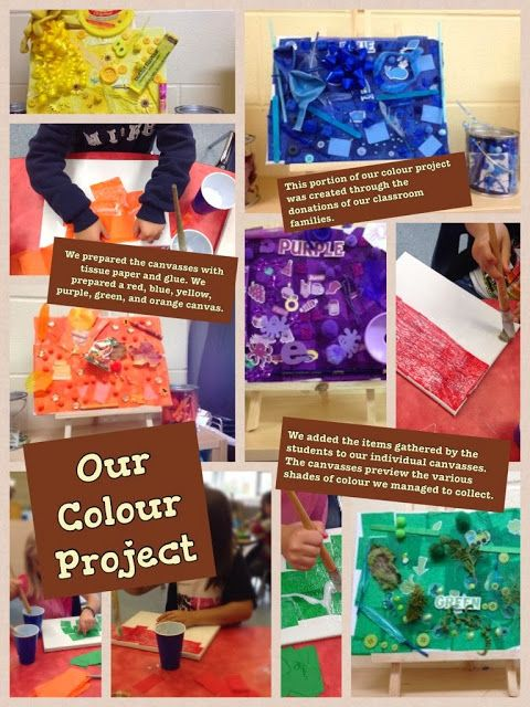 Inquiring Minds...The Kindergarten Edition: A new post about our colour project that we are currently working on!