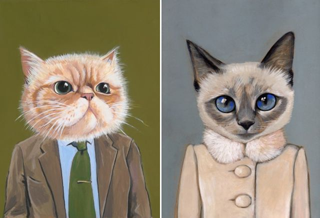 can't get enough of these cats in clothes by Heather Mattoon