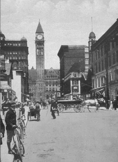 Bay Street Toronto looking north c1904