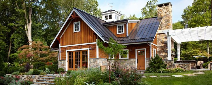 Dreaming of home stone and cedar shake exteriors metal for Cedar shake home plans