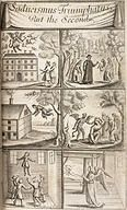 Six Images showing Supernatural and Demonic activities, 1681