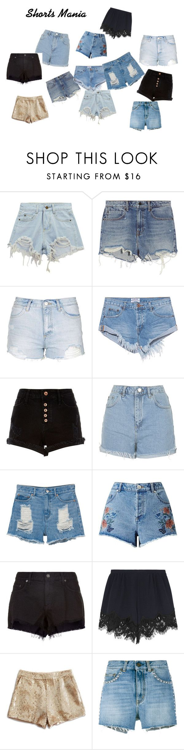 Shorts Mania by vas0an on Polyvore featuring Chloé, Yves Saint Laurent, Alexander Wang, Lucky Brand, rag & bone, One Teaspoon, Miss Selfridge, River Island, Topshop and Monki