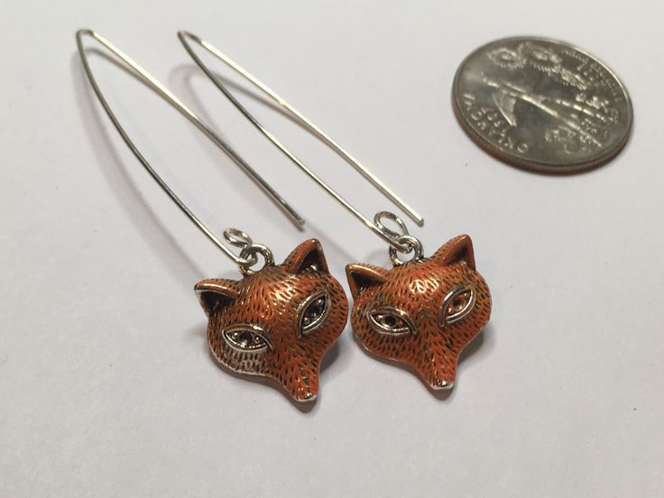 Gorgeous Geekery Fantastic Fox Earrings on Sterling Silver Hooks - Simple Jewelry, Woodland Earrings, Fox Jewelry - Great Gift! by TheRobotPrincess on Etsy https://www.etsy.com/listing/488844663/gorgeous-geekery-fantastic-fox-earrings