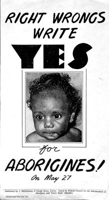 The referendum of 27 May 1967, called by the Holt Government, approved two amendments to the Australian constitution relating to Indigenous Australians. Technically it was a vote on the Constitution Alteration (Aboriginal People) 1967, which became law on 10 August 1967 following the results of the referendum. The amendments were overwhelmingly endorsed, winning 90.77 percent of votes cast and carrying in all six states.