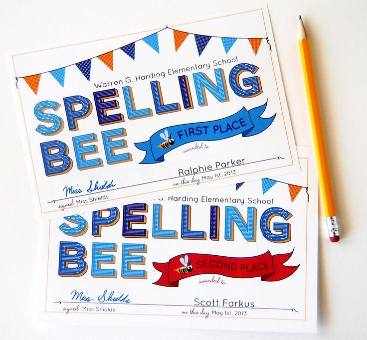 Spelling Bee Certificates                                                                                                                                                                                 More