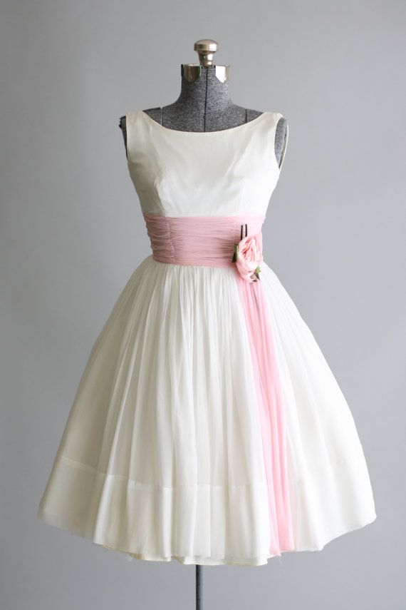 Vintage 1950s Dress / 50s Prom Dress / By TuesdayRoseVintage
