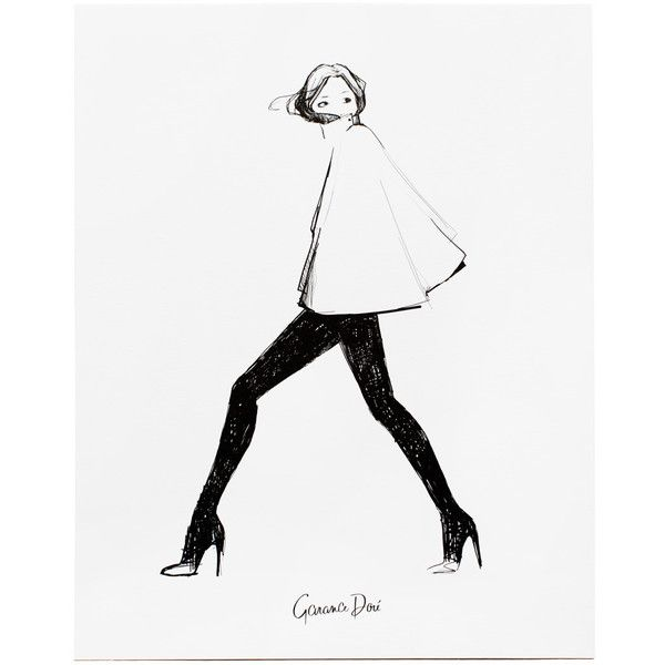 Garance Doré Boutique My Cape Poster found on Polyvore