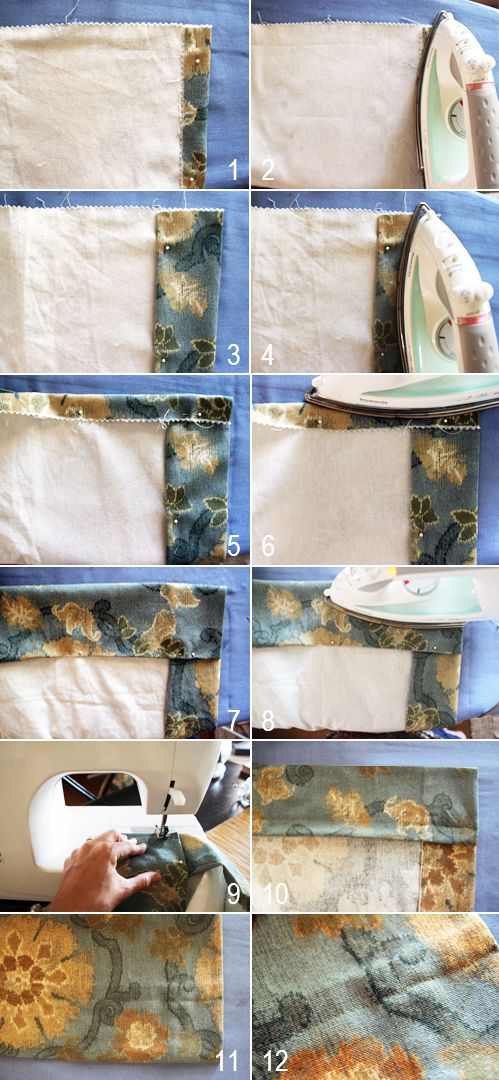 How-to sew curtains- love the design of the room on the blog!