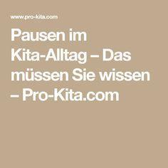 Pausen im Kita-Alltag – Das müssen Sie wissen – Pro-Kita.com