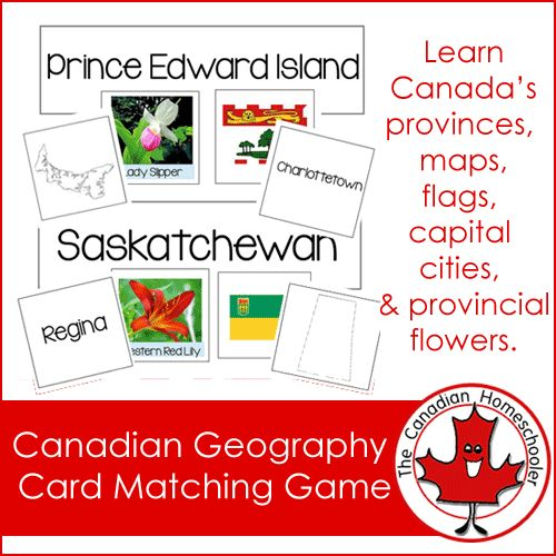 Want a fun way to learn and review what you know about the Canadian provinces? Here's a matching game! Included for each province…
