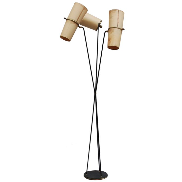fine french 1940s floor lamp by lunel