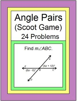This is a scoot game or walk around the room activity with 24 problems for…
