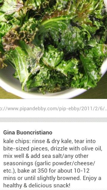 Kale chips, Kale and Chips on Pinterest