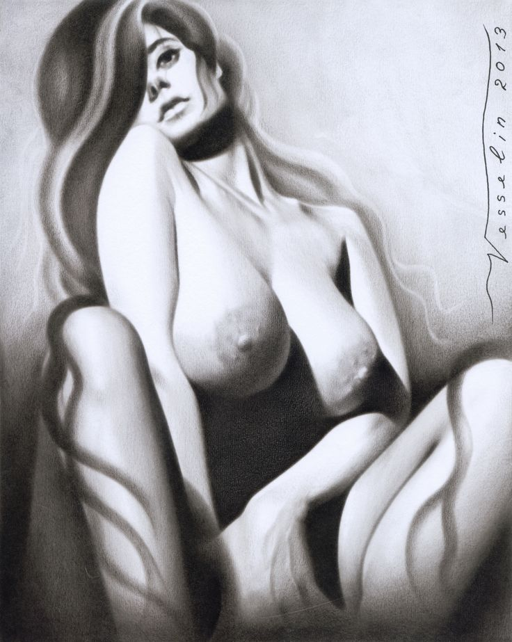 An oil painting of a nude woman created by me Vesselin Andreev
