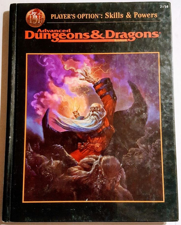 Advanced Dungeons and Dragons Player's Option: Skills & Powers 2154 Rule Book  #TSR