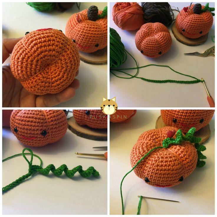 El pasado fin de semana me ha dado tiempo de prepararos un  regalín otoñal. Un patrón de una calabacita amigurumi. Yo la uso de  alf...