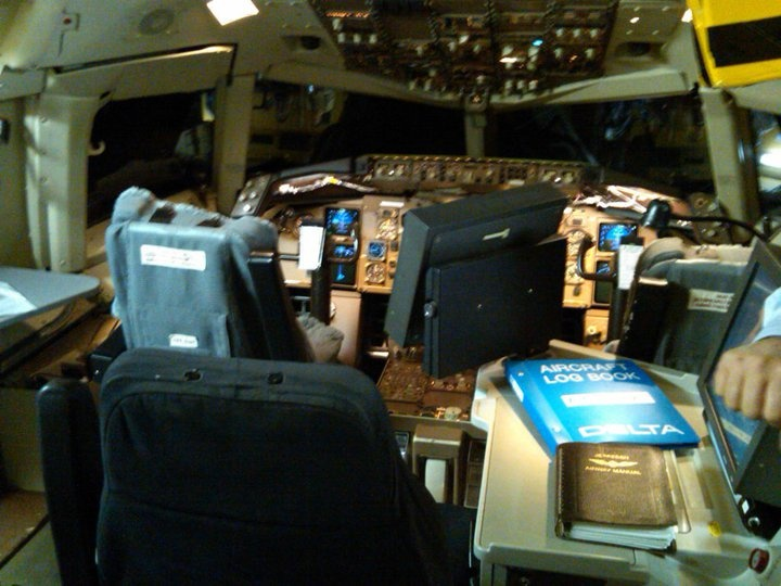 Inside the 757 simulator at Delta Headquarters