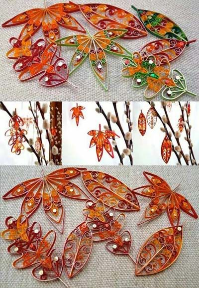 Quillspiration - 22 Autumn and Thanksgiving Paper Quilling Designs Roundup - Honey's Quilling