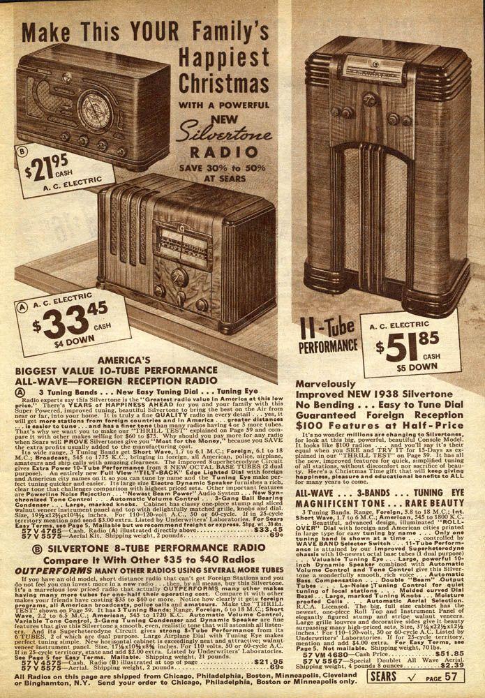 Sears Silvertone (1937).