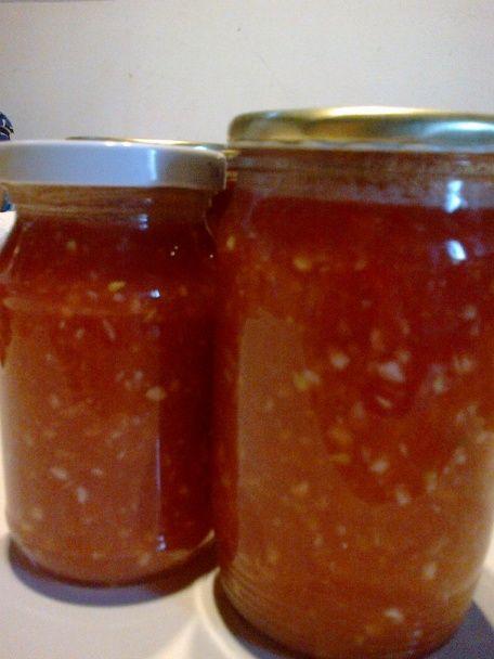 Cesnakovo paradajková zmes bez konzervovania(fotorecept) - obrázok 4