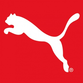 The Puma logo uses the agility and speed of the animal to promote its products.