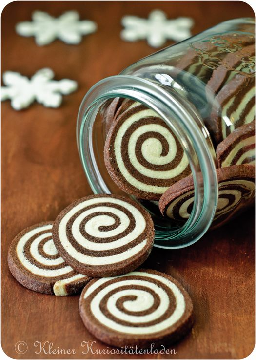 What delightfully fun little swirls of cookie goodness! Espresso Schnecken. #coffee #cookies  #Christmas #food #baking #dessert