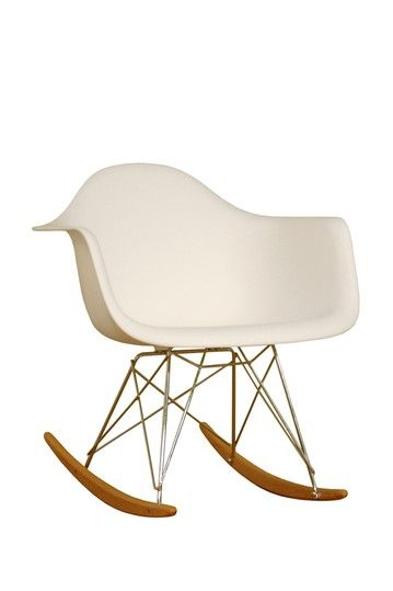 Plastic Rocking Chair - White by W.I. Modern Furniture on @HauteLook