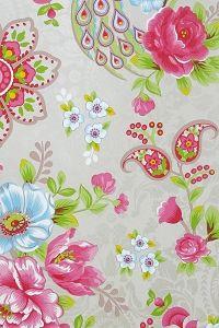 PiP Flowers in the Mix Khaki wallpaper - wallpaper selection.
