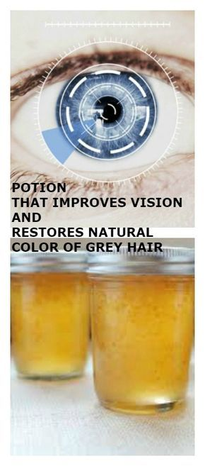 THIS IS MAGIC: POTION THAT IMPROVES VISION AND RESTORES NATURAL COLOR restore restore Vision engraver OF GREY HAIR