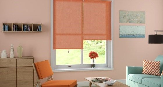 elderfield orange roller blinds - Dulux's colour of the year for 2015 is 'Copper Orange'. If you're a fan of this hue, here are a few Hillarys that will complement it beautifully.