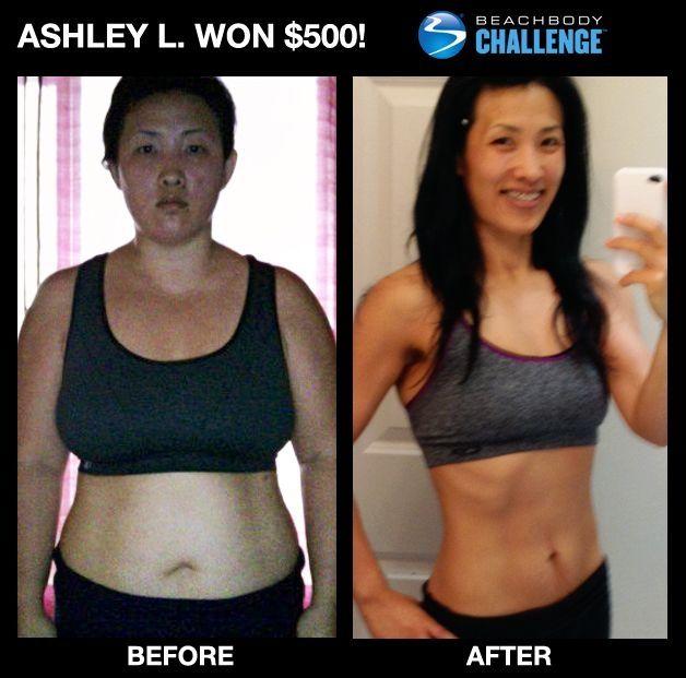 P90X Results Women body transformations - Ashley