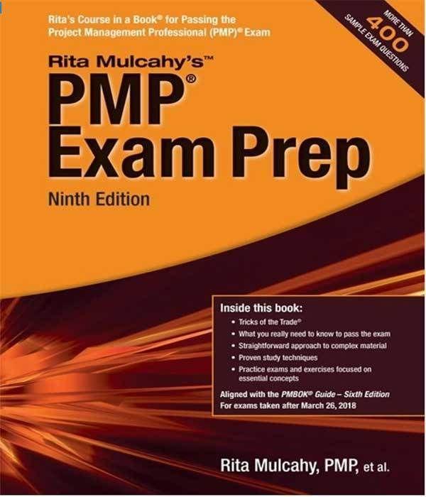 Rita Mulcahy Pmp Exam Prep Book 2018 Review Pmp Exam Prep Pmp Exam Exam Prep