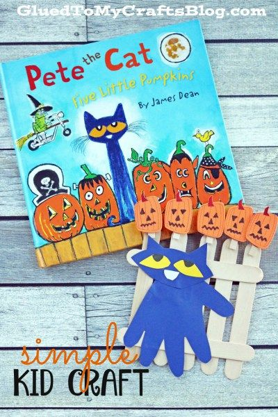 Pete the Cat - Five Little Pumpkins Kid Craft Idea