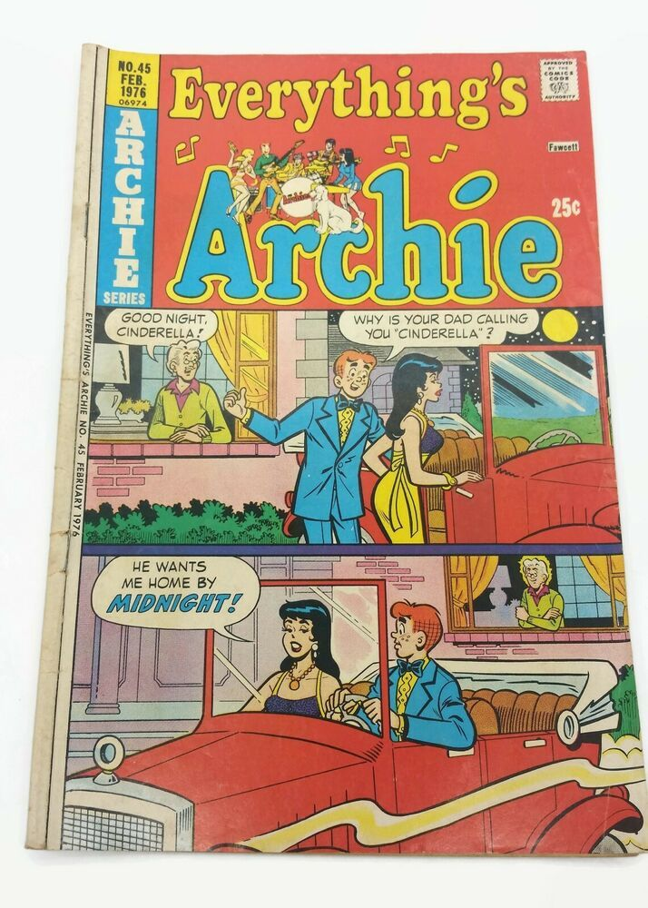 Vintage February 1976 Archie Series Everything S Archie No 45