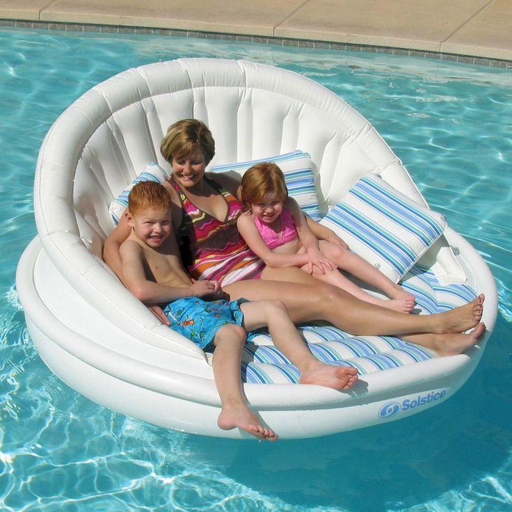 "Giant Aqua Sofa Lounge Float Solstice Swimming Pool Lake 81"""