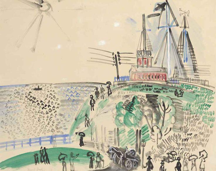 Raoul Dufy (1877-1953)  La Semaphore ou L'entrée du Port du Havre
