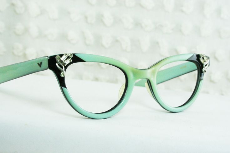 50s Cat Eye Glasses 1960's Rhinestone Eyeglasses by THAYEReyewear, $104.00