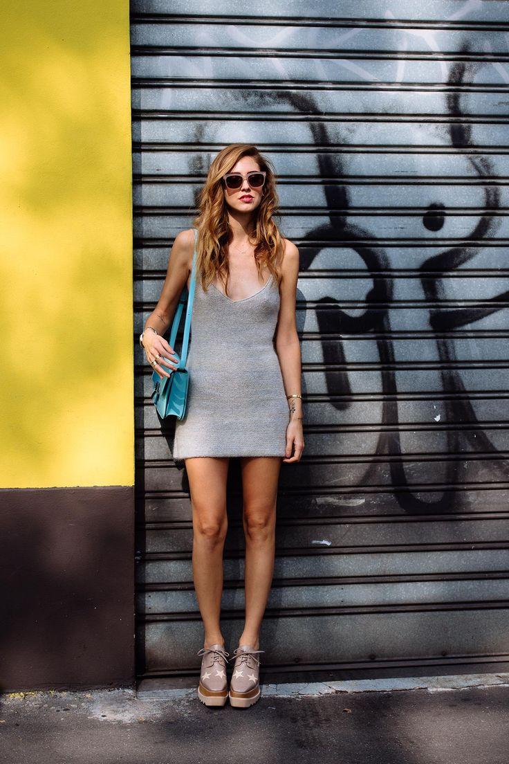 Chiara keeping it simple in Milan. #TheBlondeSalad