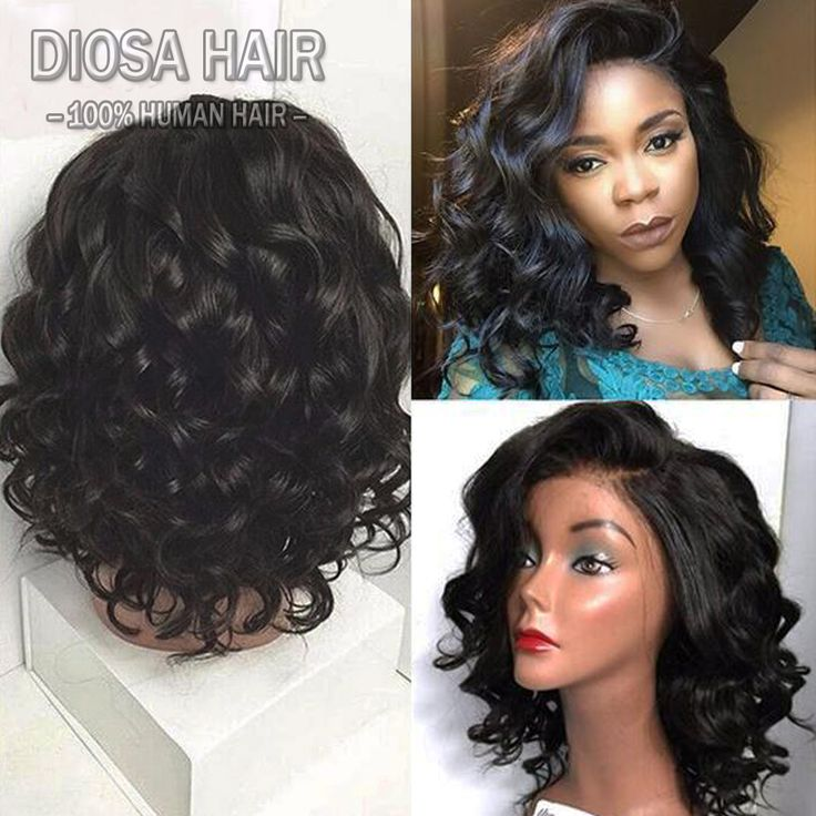 Find More Human Wigs Information about Full Lace Human Hair Wigs For Black Women 180% Brazilian Short Wavy Wig Natural Short Bob Glueless Lace Front Human Hair Wigs,High Quality hair and wigs,China hair wigs sale Suppliers, Cheap wig bleach from Diosa Hair on Aliexpress.com