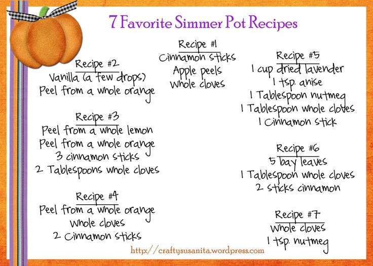 It smells like fall! 7 simmer pot recipes with a free printable